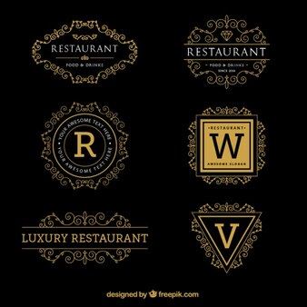 Luxury ornamental logo templates