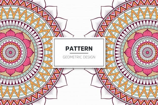 Luxury ornamental mandala pattern design
