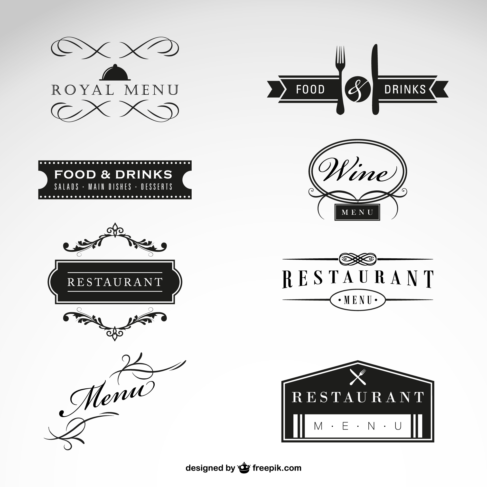 Luxury restaurant logo