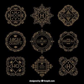 Luxury retro logos
