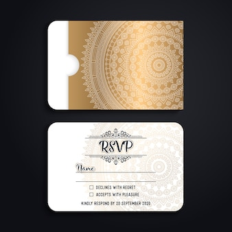 Luxury save the date card