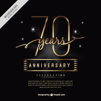 Luxury seventy anniversary card