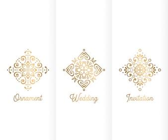Luxury trifold wedding template