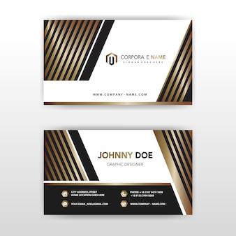高級なベクトルイラスト企業のカード