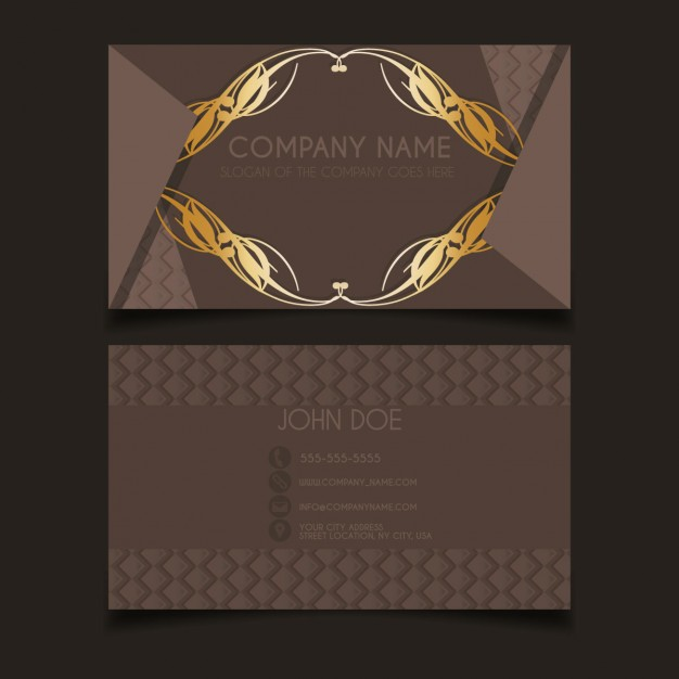 Luxury vintage business card template