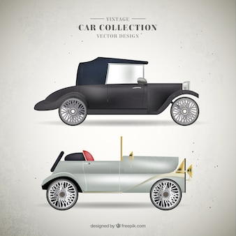 Luxury vintage car collection