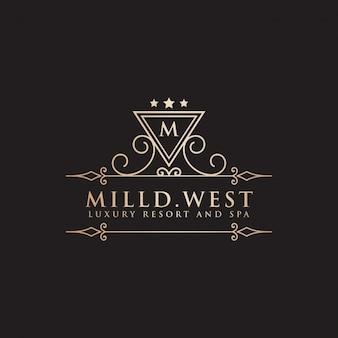 Luxury vintage hotel label