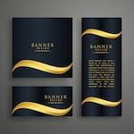 Luxury wavy banner design