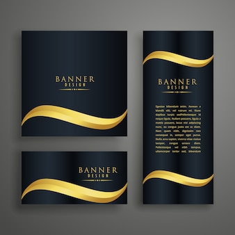 Luxury wavy banner design