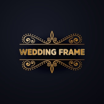 Luxury wedding frame