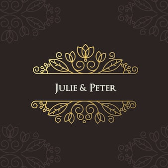 Luxury wedding poster