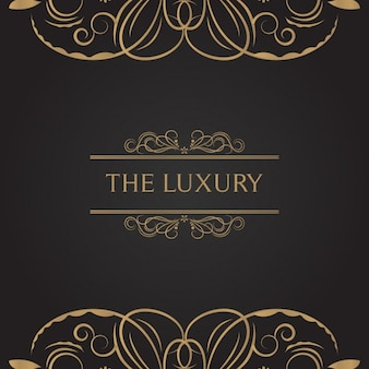 Luxury with golden elements background