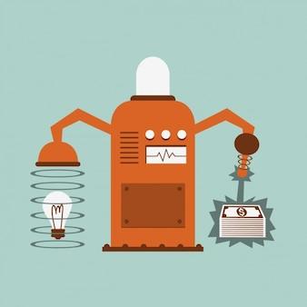 Machine converting ideas in money