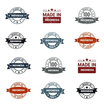 made in indonesia  rubber stamps collection