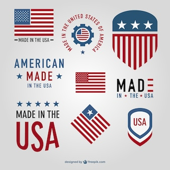 Made in USA vector badges