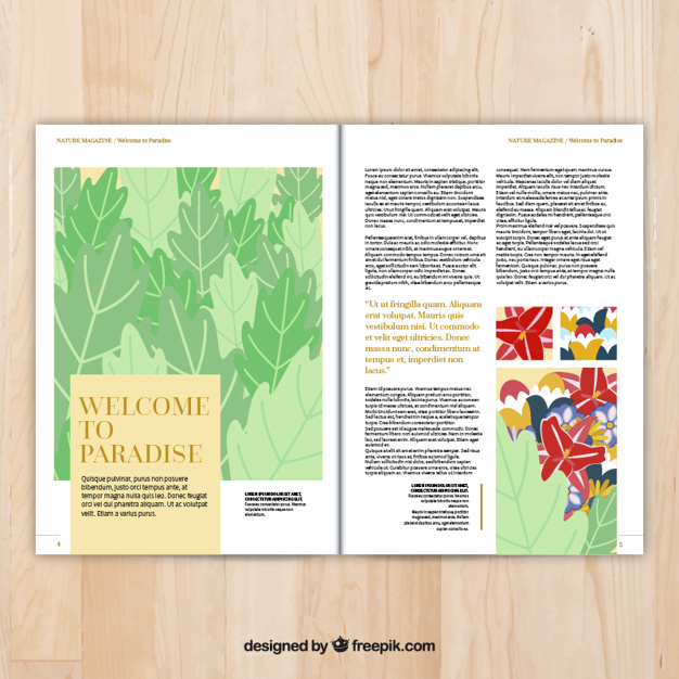 Magazine pages template
