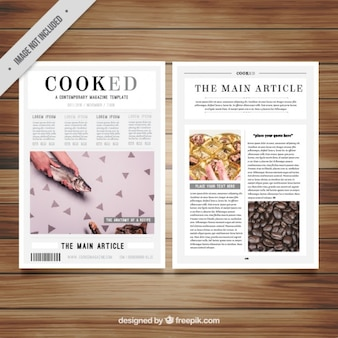 Magazine template with pictures