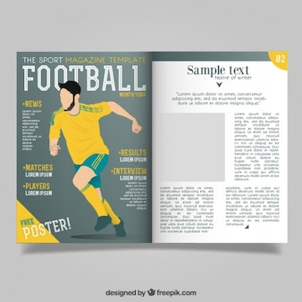 Magazine with football report