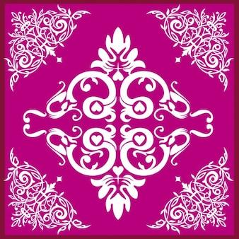 Magenta Floral Ornament