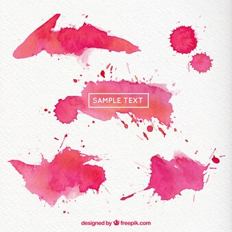 Magenta watercolor splashes
