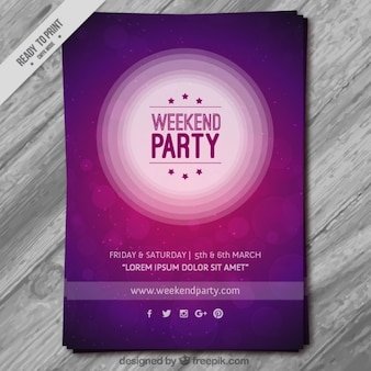 Magenta Weekend Party flyer