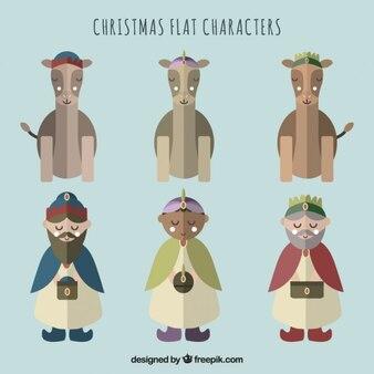 Magi and Camels Flat Characters