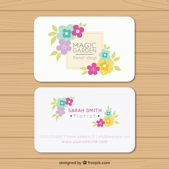 Magic garden business card