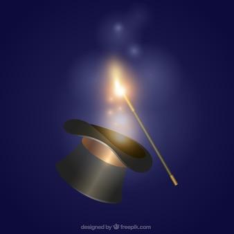 Magic hat and wand