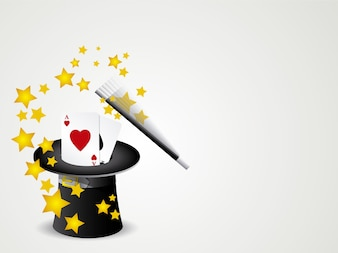 Magic hat background