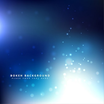 Magical blue bokeh background