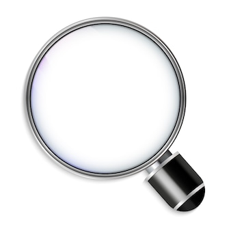 Magnifying glass realistic design