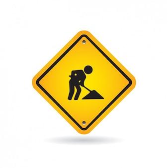 Maintenance Road Sign