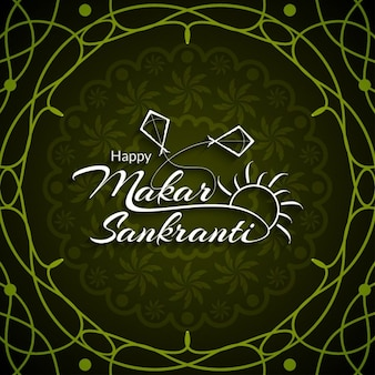 Makar sankranti, green background