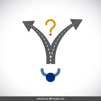 Make a decision concept