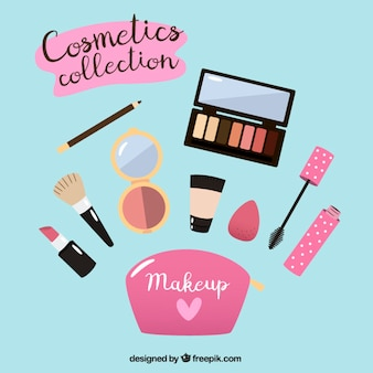 Make-up equipment in flat design
