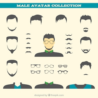 Male avatar collection