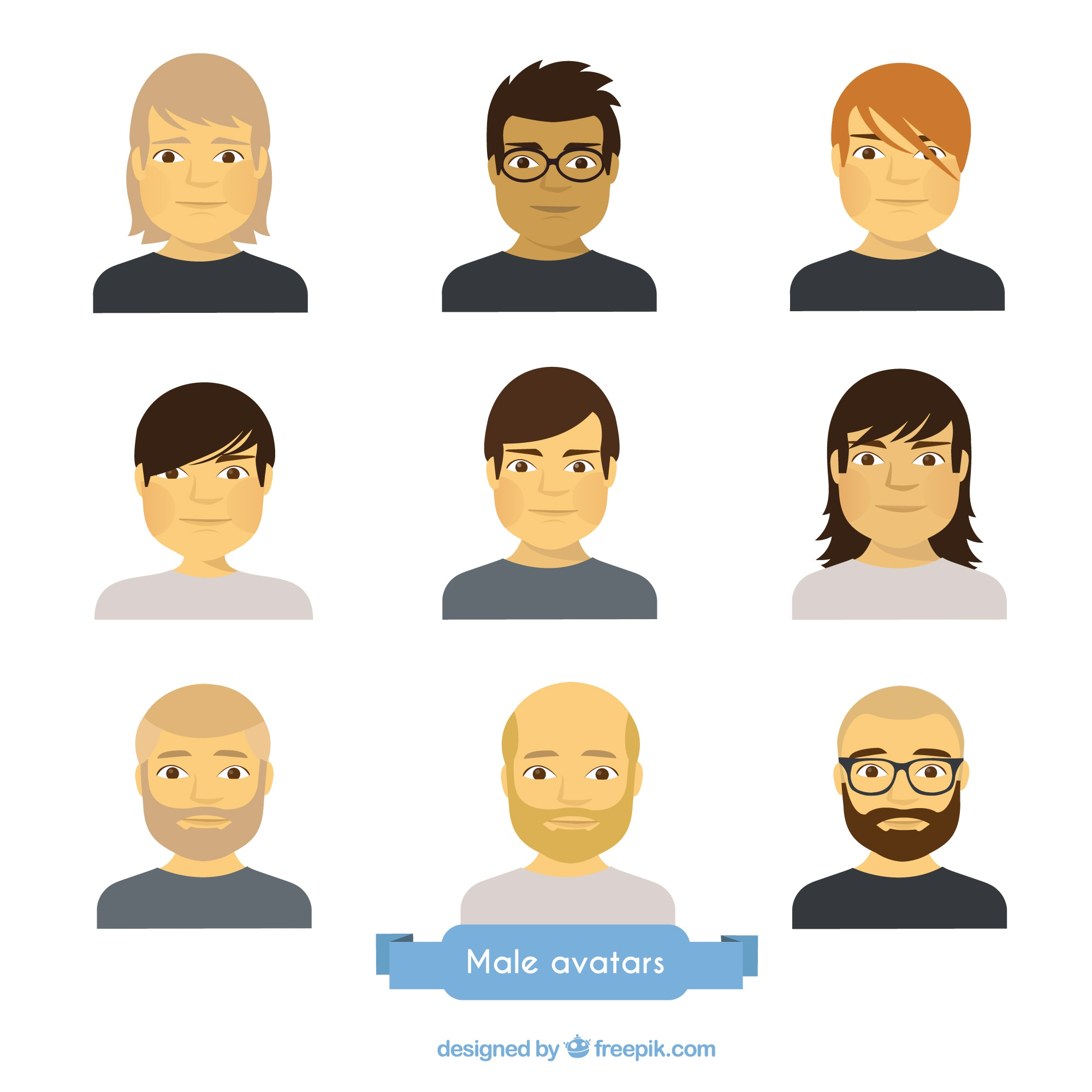 Male avatars collection