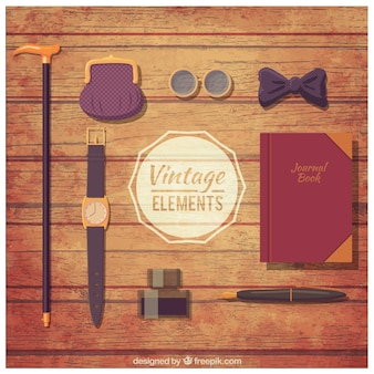 Male elements in vintage style