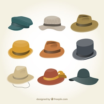 男性の帽子コレクション