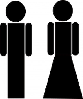 man and woman for toilet symbol
