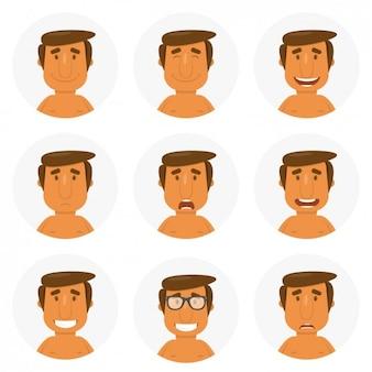 Man avatars collection