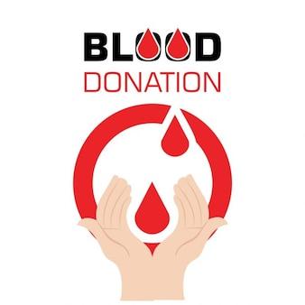 Man holding blood drop donation concept design