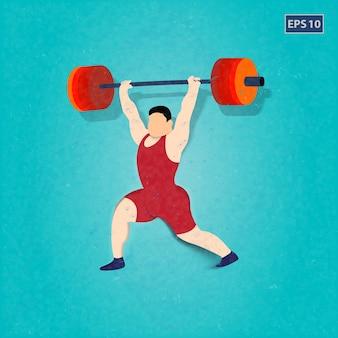 重量挙げ設計を練習する男