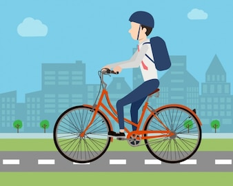 Man riding a bike design