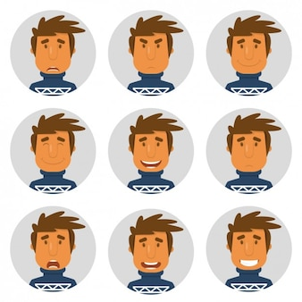 Man with jersey avatars collection