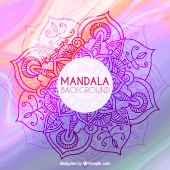 Mandala background with wavy shapes