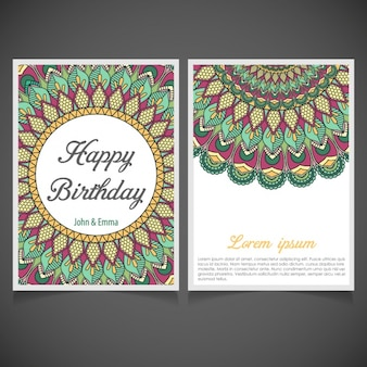 Mandala birthday invitation design