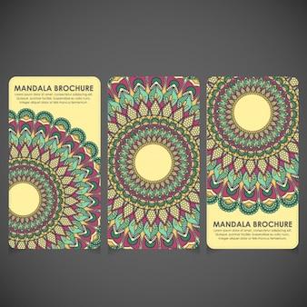 Mandala brochures set