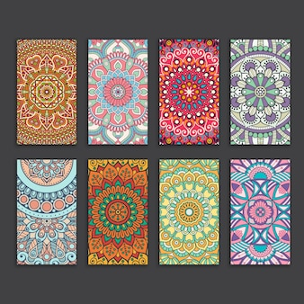 Mandala business card template collection