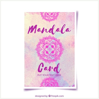 Mandala card gradient design